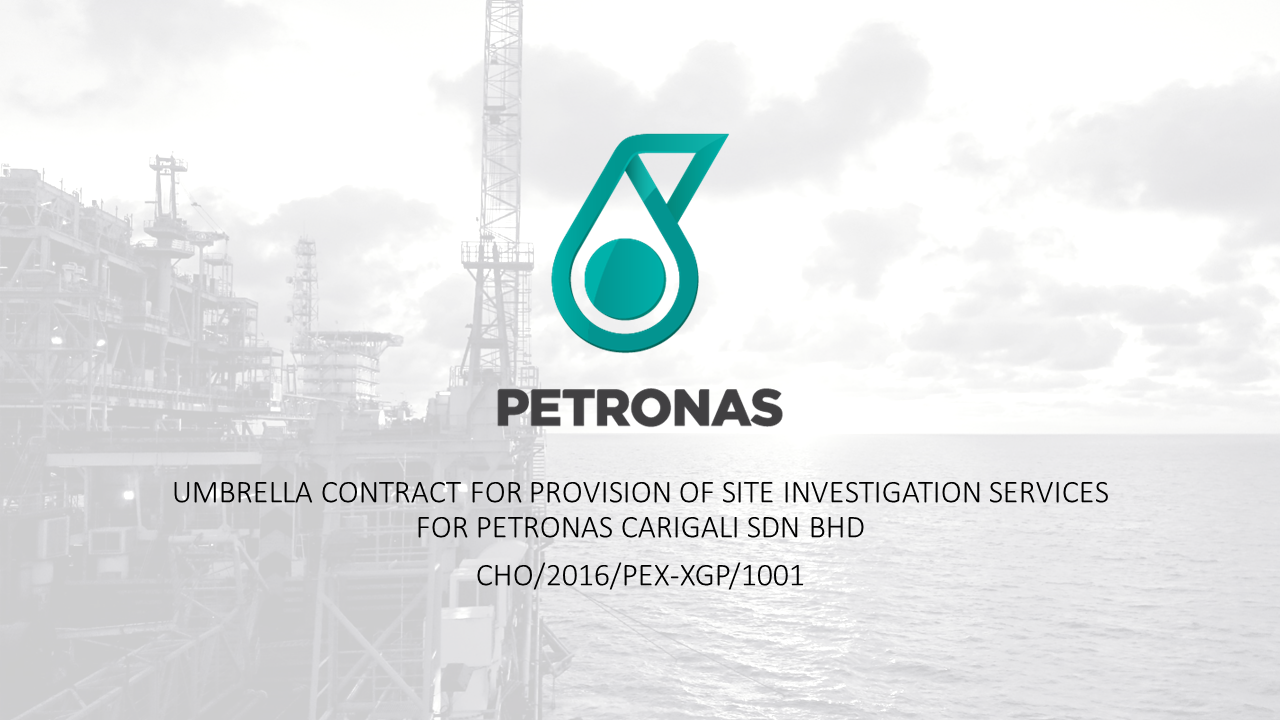 Provision of Site Investigation Services for Petronas Carigali Sdn. Bhd.