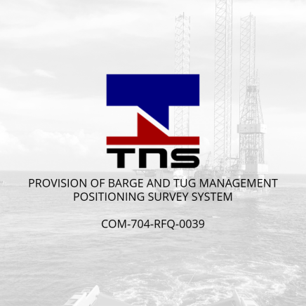 Provision of Barge and Tug Management Positioning Survey System for Thai Nippon Steel Engineering & Construction Corporation Ltd. (Thailand)